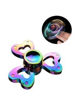 rainbow heart fidget spinner