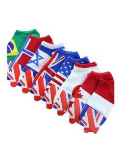 flag ankle socks