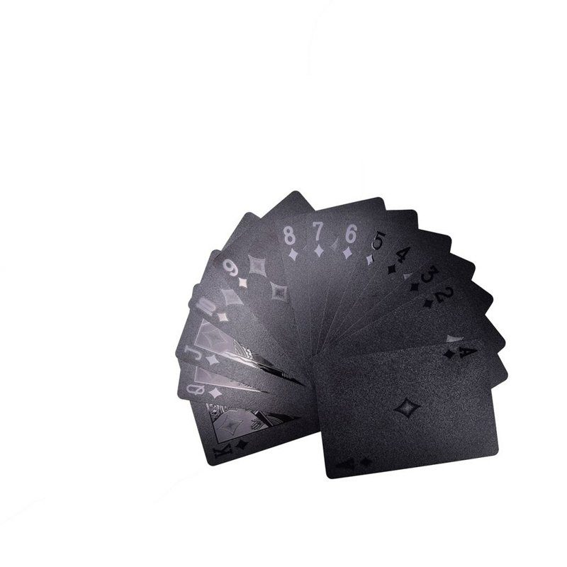 black playing cards