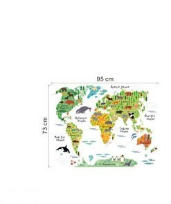 World Map Wall Sticker world map wall decal
