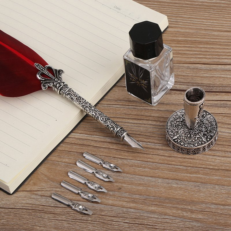 Quill Pen Feather Calligraphy Pen Set - Mexten Product is ...Feather Quill Pen And Ink Set