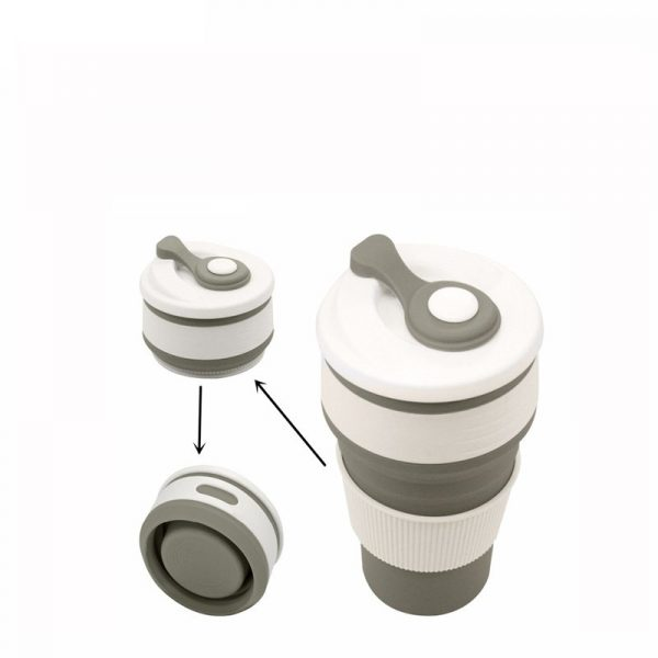 Collapsible silicone Travel tea cup Mug