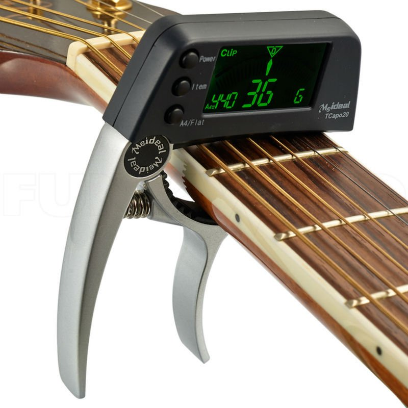 buy guitar capo built tuner mexten product is of high quality. Black Bedroom Furniture Sets. Home Design Ideas