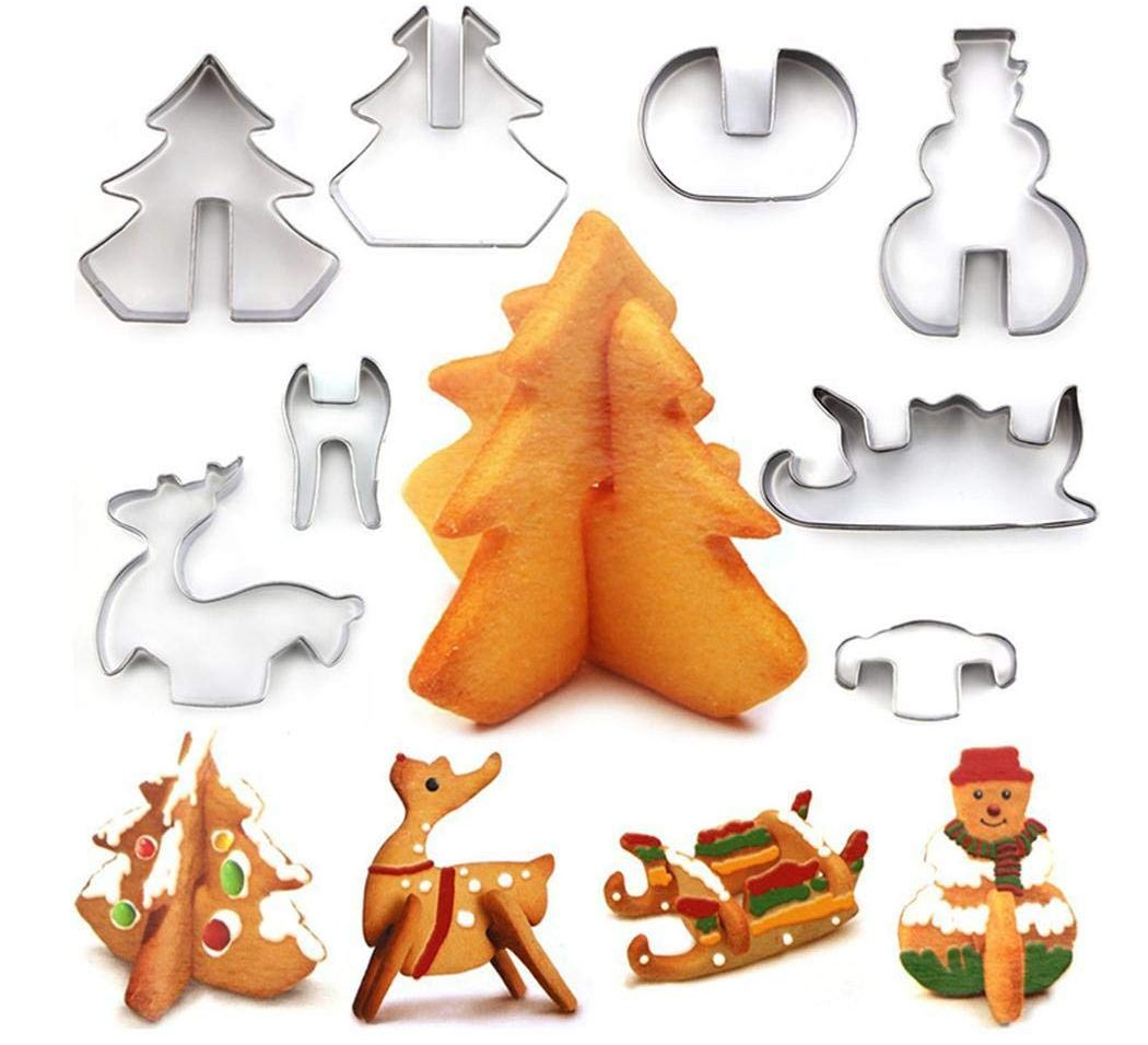 3D Christmas Cookie Cutters