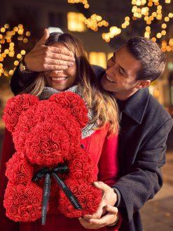 Valentine Day Gift Rose Flower Teddy Bear