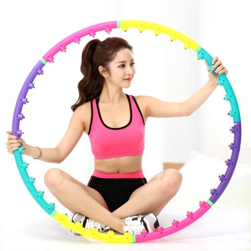 Girl with Massage Yoga Hoop
