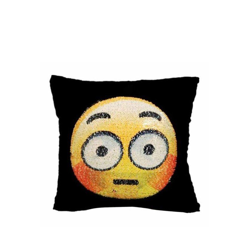 buy Sequin Emoji Pillow Case