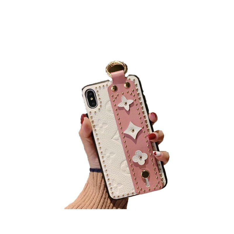 buy Rivet Leather Wristband iPhone Cases