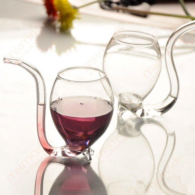 Wine Glass with Straw (2pcs)