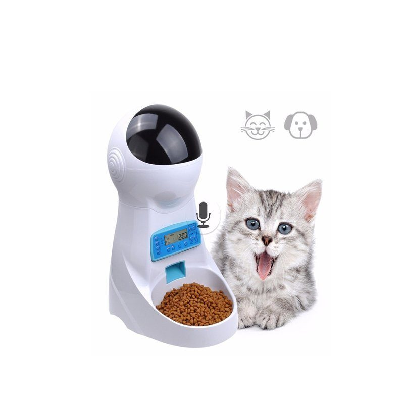 buy Automatic Pet Food Feeder With Voice Recording