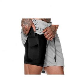 buy Men's 2 in 1 Secure Pocket Shorts