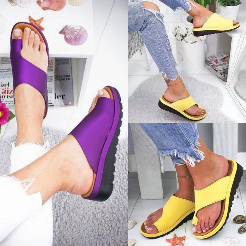 bf3ec2f84f Women Comfy Platform Sandal Shoes | Bunion Correcting Sandals