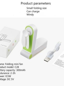 Mini Rechargeable Folded Fan