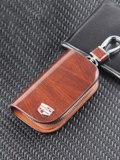 Car Logo Wood Car Key Case