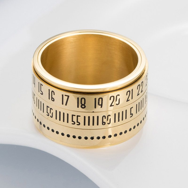 2cbc8ca9d71e2 Arabic Numerals Ring | 3 Layer Rotating Ring | Mexten Product