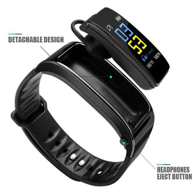 2-in-1 Smart Bracelet with Bluetooth Earphone