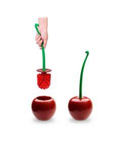 Red Cherry Lavatory Toilet Brush Set