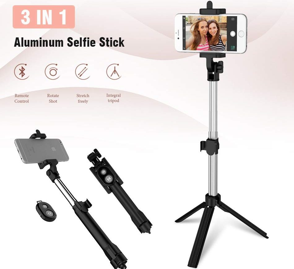 3 in 1 selfie stick