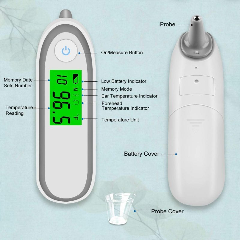 Ear and Forehead Digital Thermometer