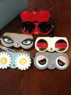 Leather Cartoon Women Sunglasses Case box for eyeglass