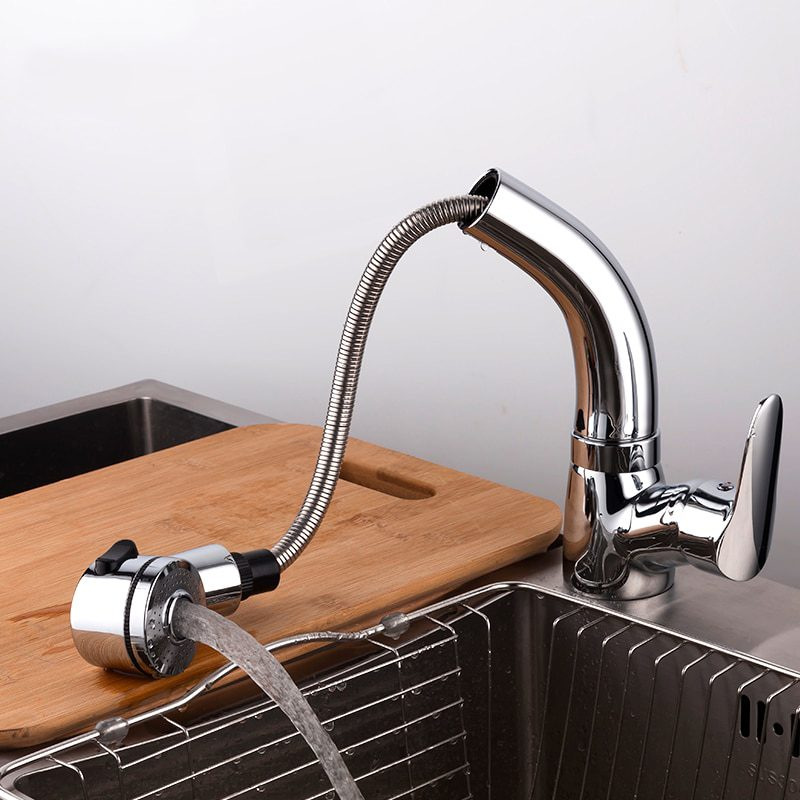 Height Adjustable Pull-Out Sink Faucet Tap