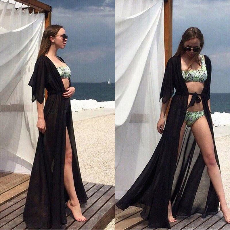 Chiffon Kimono Beach Cover-Up