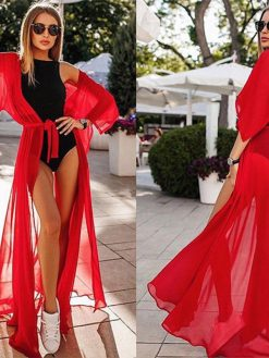 Red sexy Beach Cover-Up