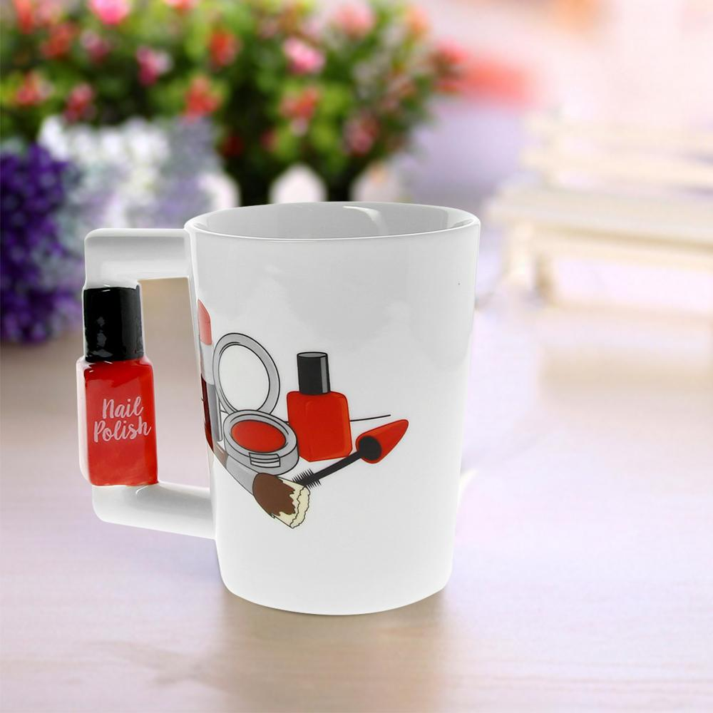 Nail Polish Handle Tea Coffee Mug