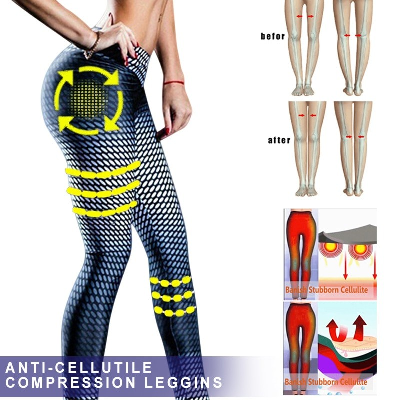 Anti-Cellulite Compression Slim Leggings
