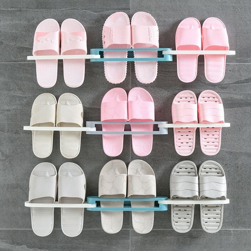 Wall Mounted Slippers Rack