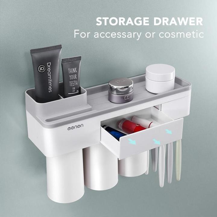 Bathroom Drill-Free Toiletry Storage Set