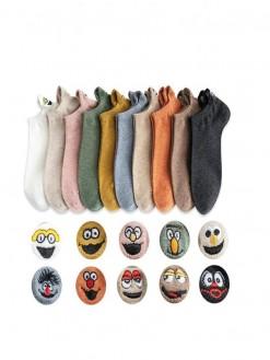 Embroidered Cartoon Socks