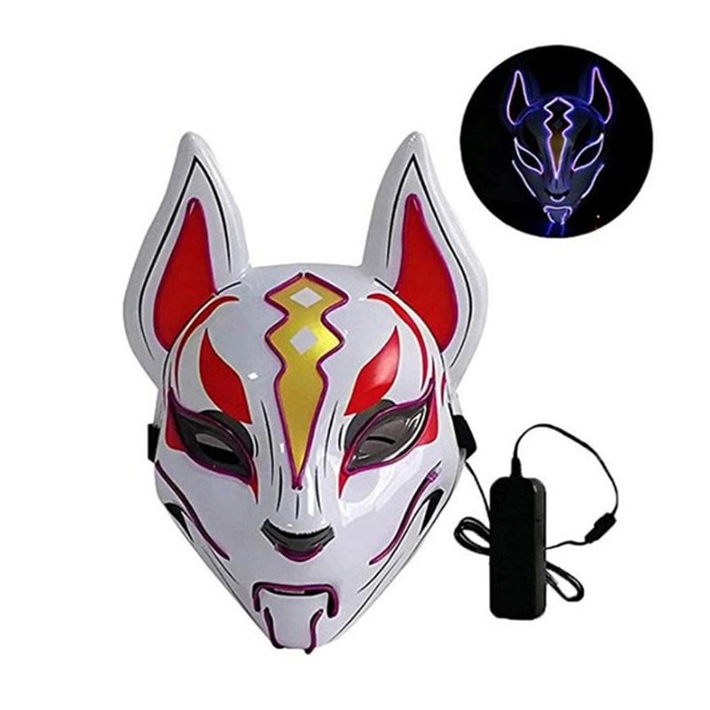 Fox Full Face Neon Mask