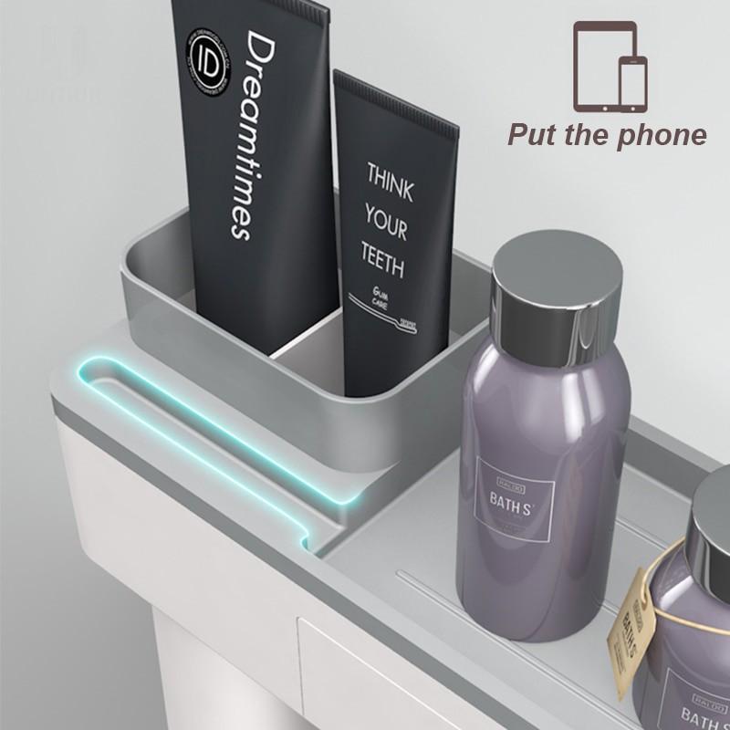 Drill-Free Toiletry Storage Set