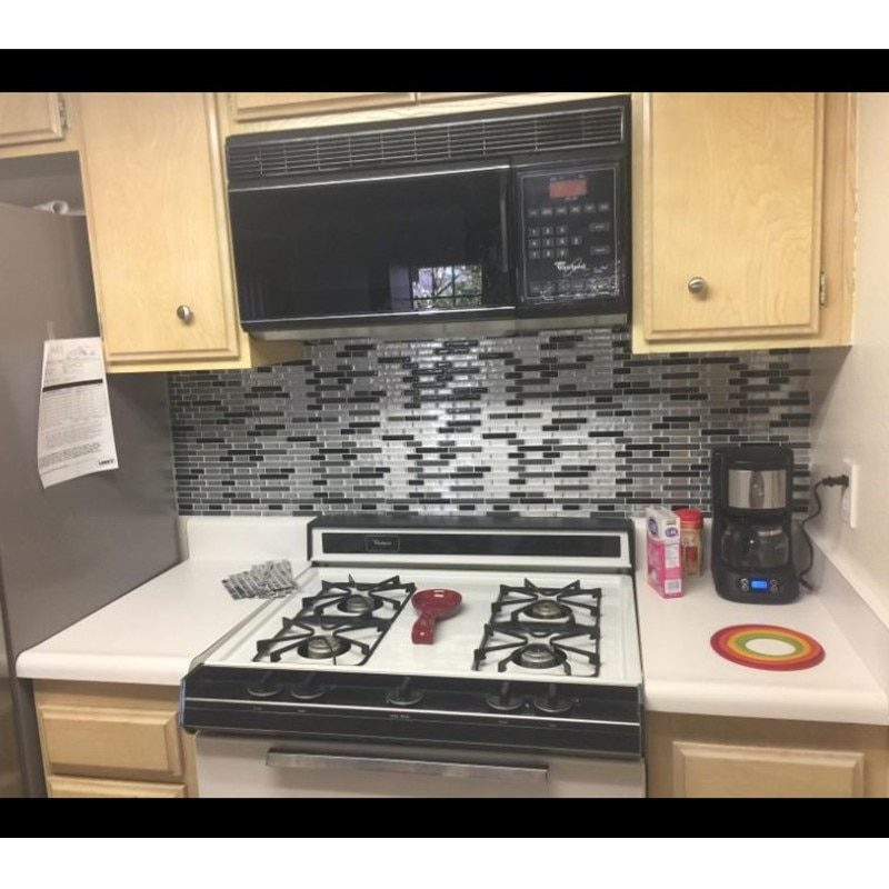 Peel-and-Stick Backsplash