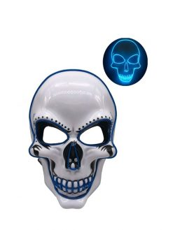 Halloween Skeleton LED Mask