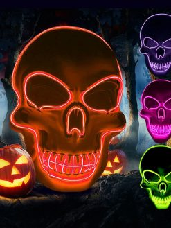 Halloween Skeleton LED Mask