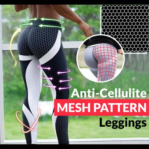 Anti-Cellulite Mesh Pattern Leggings