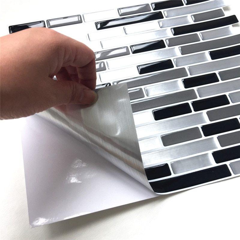 Peel-and-Stick Backsplash