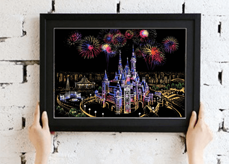 Dream Castle - DIY Scratch Art