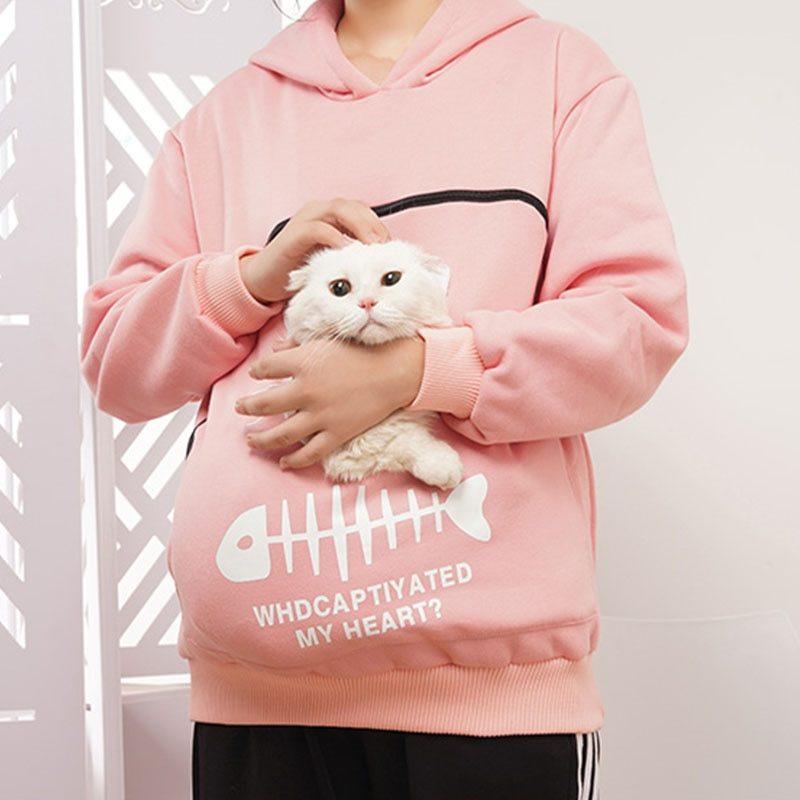 Sweatshirt Animal Pouch Hood