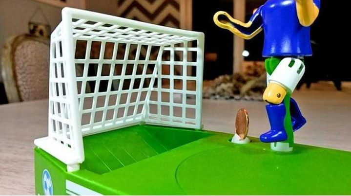 Soccer Shooting Coin Bank