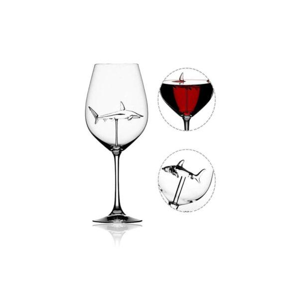 Shark Red Wine Goblet