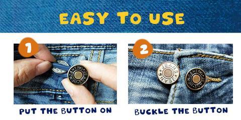 Jeans Retractable Button