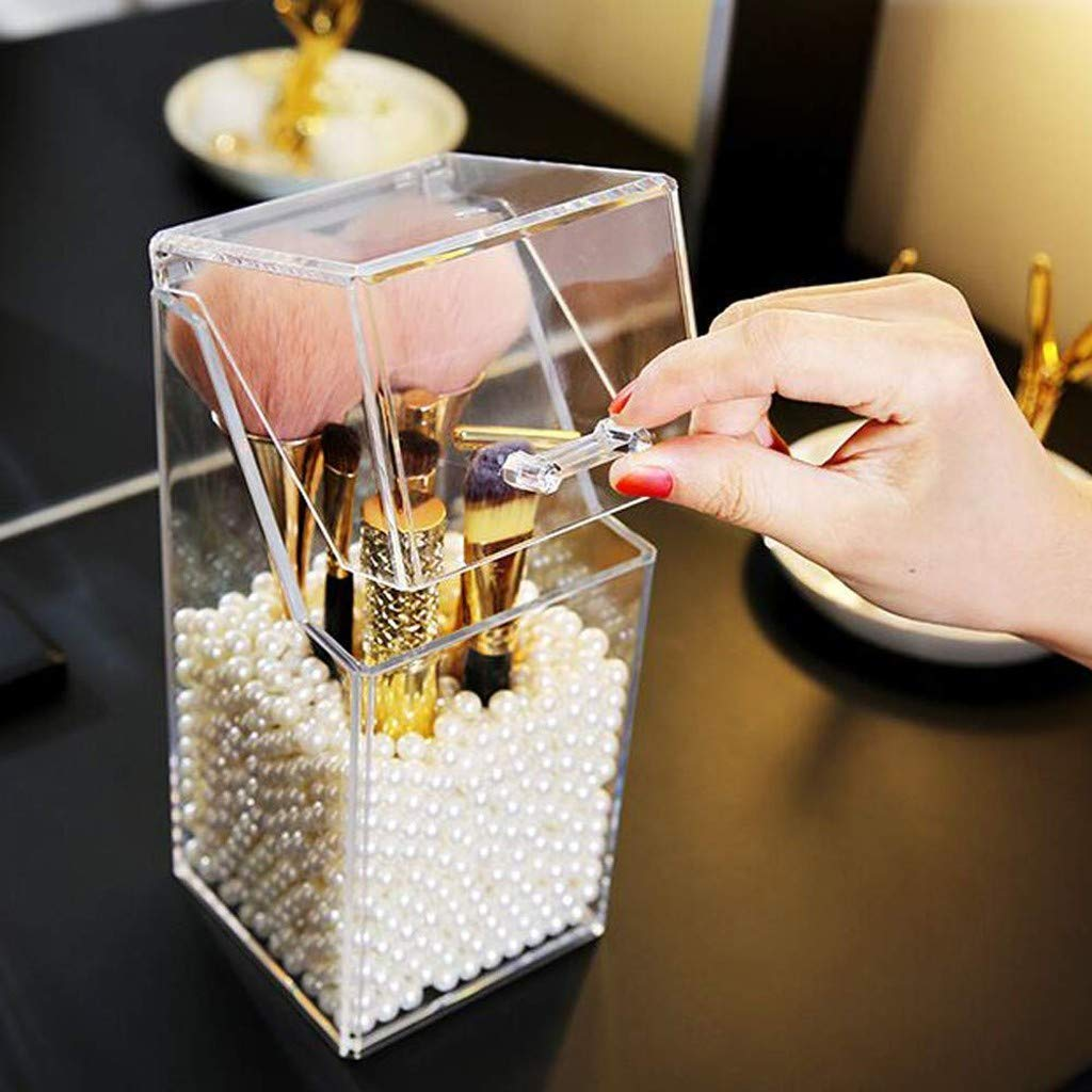 Clear Makeup Brush Holder