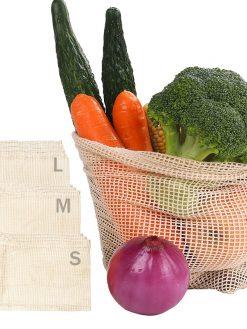 Cotton Mesh Produce Bags