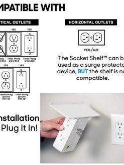 Multi-function Tray Wall Plug
