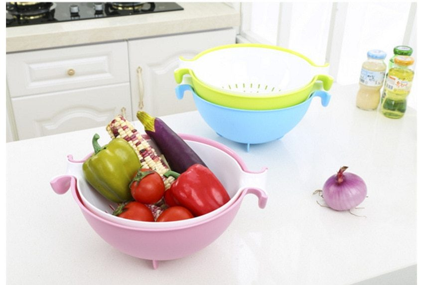 Dual Layer Wash Basket