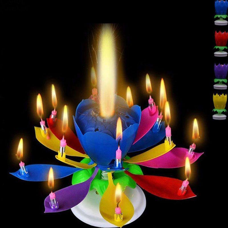Flower Birthday Candles