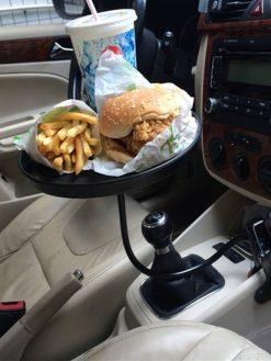 Adjustable Organizer Food Tray for Car